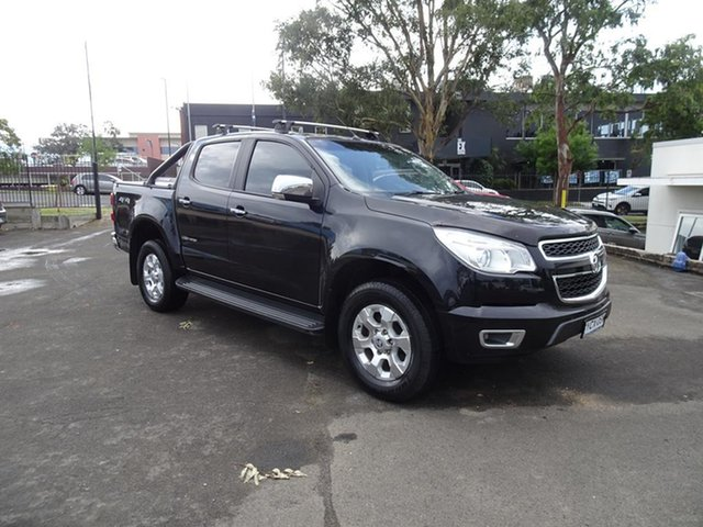 Used Holden Colorado RG MY15 LTZ Crew Cab Nowra, 2014 Holden Colorado RG MY15 LTZ Crew Cab Black 6 Speed Automatic Utility