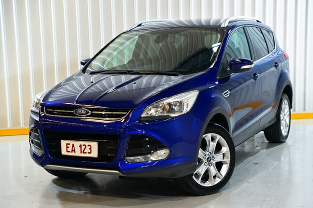 Used Ford Kuga TF MY15 Trend AWD Hendra, 2015 Ford Kuga TF MY15 Trend AWD Blue 6 Speed Sports Automatic Wagon