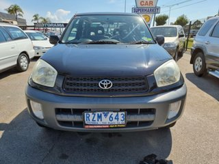 2002 Toyota RAV4 ACA20R Edge Black 5 Speed Manual Hardtop.