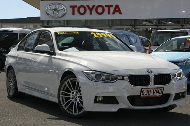 Pre-Owned BMW 3 Series F30 MY0814 320i High-Line Sport Line Upper Mount Gravatt, 2014 BMW 3 Series F30 MY0814 320i High-Line Sport Line White 8 Speed Sports Automatic Sedan