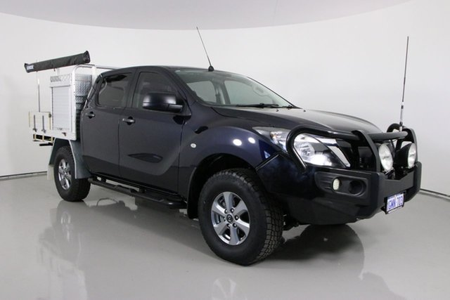Used Mazda BT-50 MY17 Update XT (4x4) Bentley, 2017 Mazda BT-50 MY17 Update XT (4x4) Blue 6 Speed Automatic Dual Cab Utility