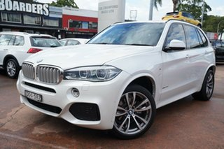 2016 BMW X5 F15 MY15 xDrive 40D White 8 Speed Automatic Wagon.