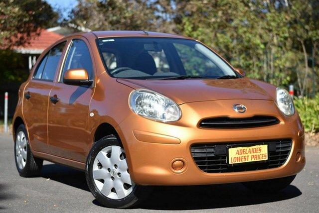 Used Nissan Micra K13 ST Melrose Park, 2011 Nissan Micra K13 ST Gold 5 Speed Manual Hatchback