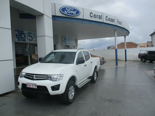 Used Mitsubishi Triton MN MY15 GLX (4x4) Bundaberg, 2015 Mitsubishi Triton MN MY15 GLX (4x4) White 5 Speed Manual 4x4 Double Cab Utility