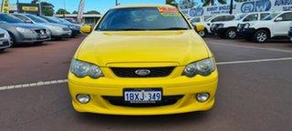 2005 Ford Falcon BA Mk II XR6 Yellow 4 Speed Sports Automatic Sedan.