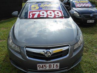 2010 Holden Cruze JG CD Grey 5 Speed Manual Sedan.
