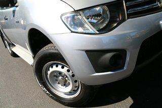 2010 Mitsubishi Triton MN MY10 GLX Double Cab 4x2 Silver 4 Speed Automatic Utility.