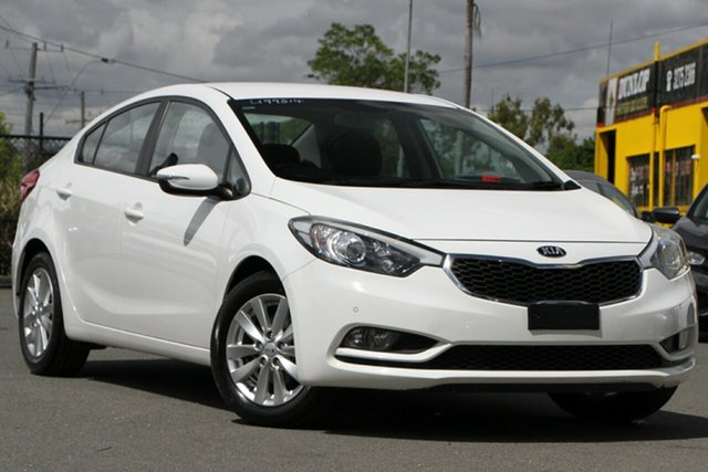 Used Kia Cerato YD MY15 S Premium Rocklea, 2015 Kia Cerato YD MY15 S Premium Clear White 6 Speed Sports Automatic Sedan