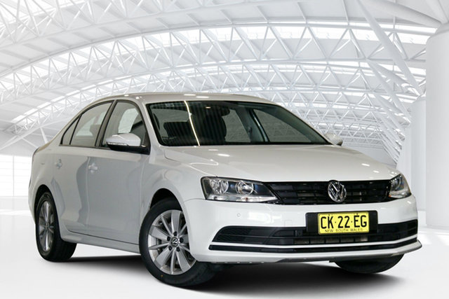 Used Volkswagen Jetta 1KM MY17 118 TSI Trendline Moorebank, 2016 Volkswagen Jetta 1KM MY17 118 TSI Trendline White 7 Speed Auto Direct Shift Sedan