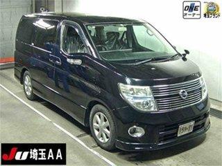 2010 Nissan Elgrand E51 Highwaystar Black Automatic Wagon.