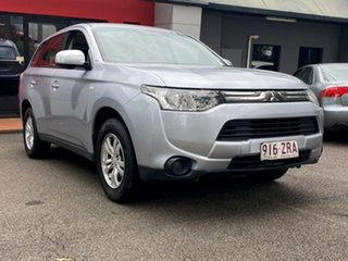2012 Mitsubishi Outlander ZJ MY13 ES 4WD Metallic Silver 6 Speed Constant Variable Wagon.