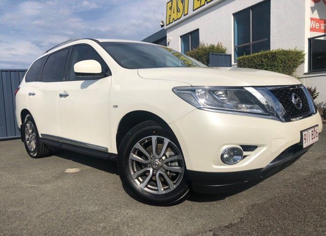 Used Nissan Pathfinder R52 MY15 ST-L X-tronic 2WD Slacks Creek, 2015 Nissan Pathfinder R52 MY15 ST-L X-tronic 2WD White 1 Speed Constant Variable Wagon