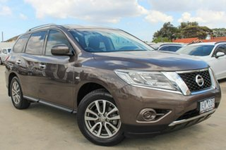2015 Nissan Pathfinder R52 MY15 ST X-tronic 2WD Brown 1 Speed Constant Variable Wagon