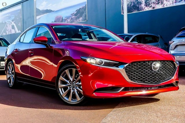 New Mazda 3 BP2S7A G20 SKYACTIV-Drive Evolve Waitara, 2021 Mazda 3 BP2S7A G20 SKYACTIV-Drive Evolve Red 6 Speed Sports Automatic Sedan