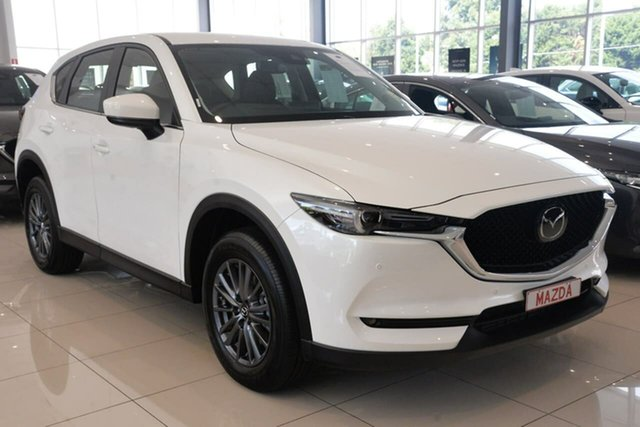 New Mazda CX-5 KF4W2A Touring SKYACTIV-Drive i-ACTIV AWD Waitara, 2021 Mazda CX-5 KF4W2A Touring SKYACTIV-Drive i-ACTIV AWD White 6 Speed Sports Automatic Wagon
