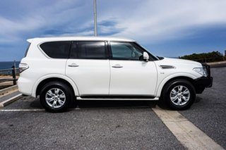 2017 Nissan Patrol Y62 Series 3 TI White 7 Speed Sports Automatic Wagon.
