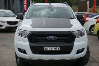 2017 Ford Ranger PX MkII FX4 Double Cab White 6 Speed Sports Automatic Utility.