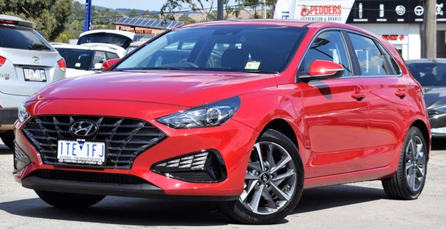 Demo Hyundai i30 PD.V4 MY21 Active Ferntree Gully, 2020 Hyundai i30 PD.V4 MY21 Active Fiery Red 6 Speed Sports Automatic Hatchback