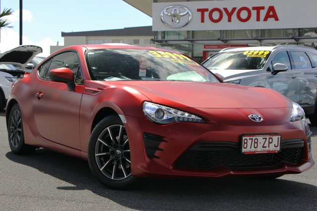 Pre-Owned Toyota 86 ZN6 GT Upper Mount Gravatt, 2017 Toyota 86 ZN6 GT Red 6 Speed Manual Coupe