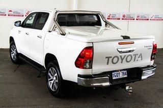 2015 Toyota Hilux GUN126R SR5 (4x4) Crystal Pearl 6 Speed Automatic Dual Cab Utility.