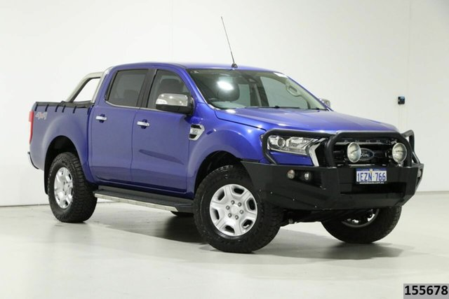 Used Ford Ranger PX MkII XLT 3.2 (4x4) Bentley, 2016 Ford Ranger PX MkII XLT 3.2 (4x4) Blue 6 Speed Manual Double Cab Pick Up