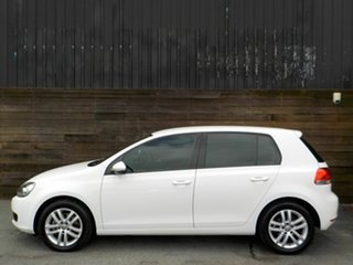 2011 Volkswagen Golf VI MY11 103TDI DSG Comfortline White 6 Speed Sports Automatic Dual Clutch