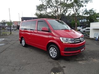 2019 Volkswagen Multivan T6 MY19 TDI340 SWB DSG Comfortline Cherry Red 7 Speed Automatic Wagon.