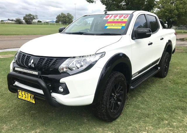Used Mitsubishi Triton MQ MY18 Blackline Double Cab Tamworth, 2018 Mitsubishi Triton MQ MY18 Blackline Double Cab White 5 Speed Sports Automatic Utility