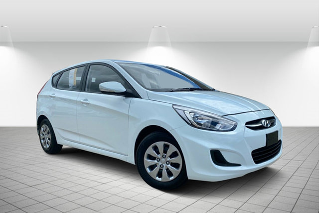 Used Hyundai Accent RB4 MY16 Active Hervey Bay, 2016 Hyundai Accent RB4 MY16 Active White 6 Speed Constant Variable Hatchback