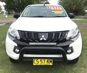 2018 Mitsubishi Triton MQ MY18 Blackline Double Cab White 5 Speed Sports Automatic Utility.