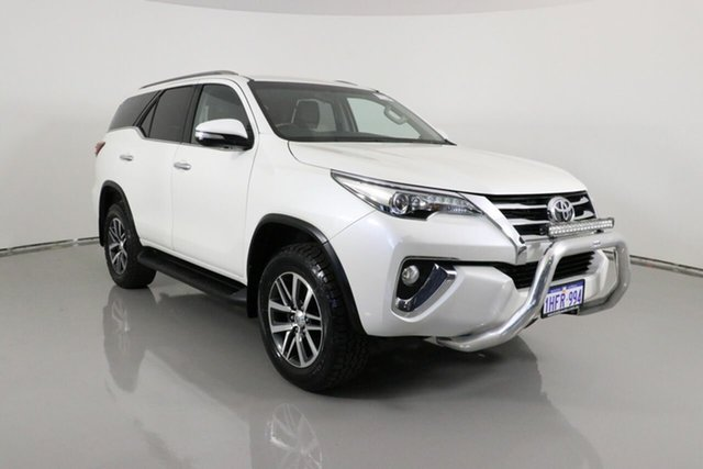 Used Toyota Fortuner GUN156R Crusade Bentley, 2015 Toyota Fortuner GUN156R Crusade White 6 Speed Manual Wagon