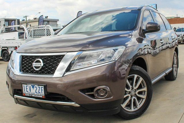Used Nissan Pathfinder R52 MY15 ST X-tronic 2WD Coburg North, 2015 Nissan Pathfinder R52 MY15 ST X-tronic 2WD Brown 1 Speed Constant Variable Wagon