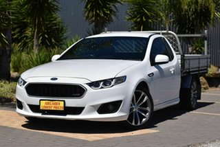 2015 Ford Falcon FG X XR6 Ute Super Cab White 6 Speed Automatic Cab Chassis.