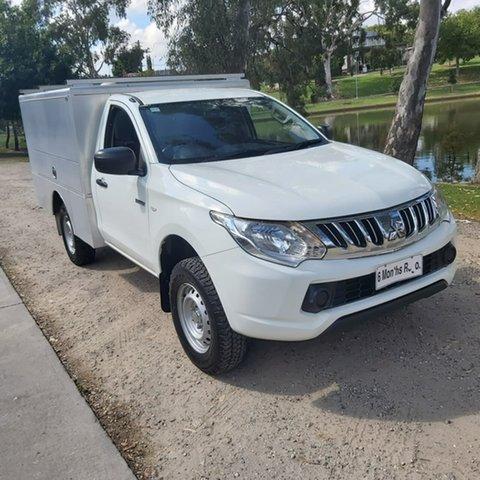 Used Mitsubishi Triton MN MY15 GLX 4x2 Wodonga, 2015 Mitsubishi Triton MN MY15 GLX 4x2 White 5 Speed Manual Cab Chassis