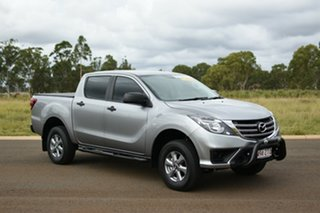 2020 Mazda BT-50 XT (4x4) (5Yr) Silver 6 Speed Manual Dual Cab Chassis.