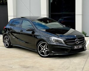 2013 Mercedes-Benz A-Class W176 A180 D-CT Black 7 Speed Sports Automatic Dual Clutch Hatchback.