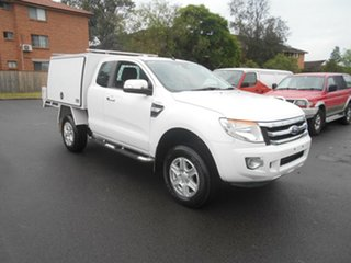2013 Ford Ranger PX XLT 3.2 Hi-Rider (4x2) White 6 Speed Automatic Super Cab Utility.