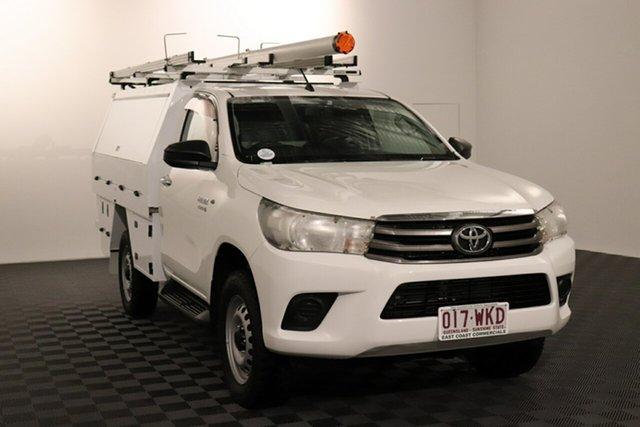 Used Toyota Hilux GUN126R SR Acacia Ridge, 2015 Toyota Hilux GUN126R SR White 6 speed Automatic Cab Chassis