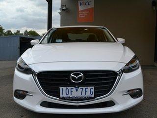2018 Mazda 3 BN5238 SP25 SKYACTIV-Drive GT White 6 Speed Sports Automatic Sedan