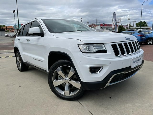 Used Jeep Grand Cherokee WK MY15 Limited (4x4) Victoria Park, 2014 Jeep Grand Cherokee WK MY15 Limited (4x4) White 8 Speed Automatic Wagon