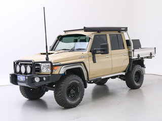 2020 Toyota Landcruiser VDJ79R GXL (4x4) Sandy 5 Speed Manual Double Cab Chassis.