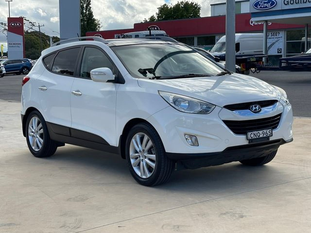 Used Hyundai ix35 Highlander Goulburn, 2013 Hyundai ix35 Highlander White Sports Automatic Wagon
