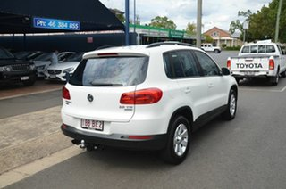2013 Volkswagen Tiguan 5NC MY14 132 TSI Pacific White 7 Speed Auto Direct Shift Wagon.