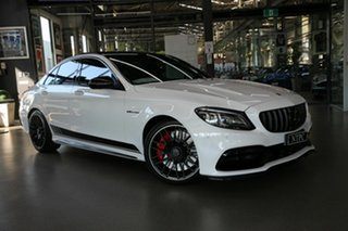 2019 Mercedes-Benz C-Class W205 809MY C63 AMG SPEEDSHIFT MCT S White 9 Speed Sports Automatic Sedan.