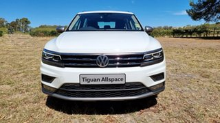 2020 Volkswagen Tiguan 5N MY21 110TSI Comfortline DSG 2WD Allspace Pure White 6 Speed.