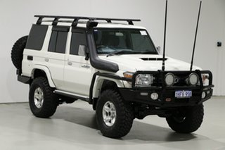 2019 Toyota Landcruiser VDJ76R GXL (4x4) White 5 Speed Manual Wagon