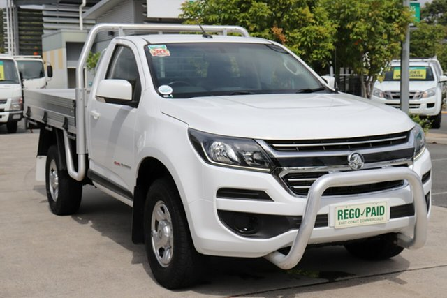 Used Holden Colorado RG MY18 LS Robina, 2018 Holden Colorado RG MY18 LS White 6 speed Manual Cab Chassis