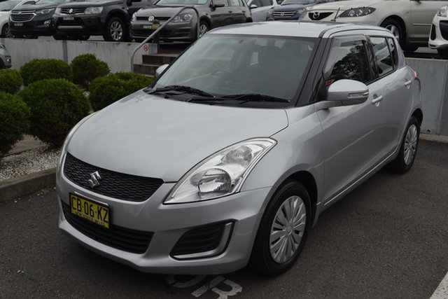 Used Suzuki Swift FZ MY14 GL Maitland, 2014 Suzuki Swift FZ MY14 GL Silver 4 Speed Automatic Hatchback