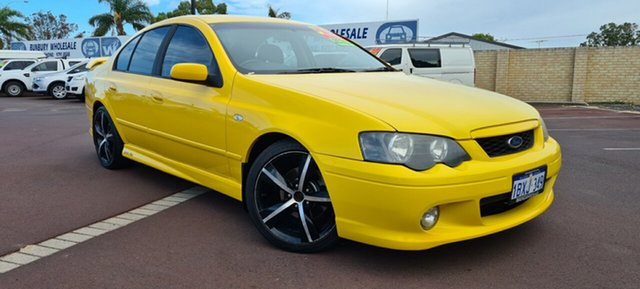 Used Ford Falcon BA Mk II XR6 East Bunbury, 2005 Ford Falcon BA Mk II XR6 Yellow 4 Speed Sports Automatic Sedan