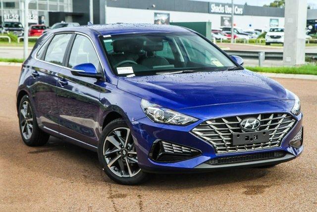 New Hyundai i30 PD.V4 MY21 Active Rockingham, 2021 Hyundai i30 PD.V4 MY21 Active Intense Blue 6 Speed Sports Automatic Hatchback